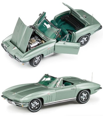 1966 Corvette Sting Ray Fiberglass Convertible Limited Edition Die-Cast 1:24 Scale Model By The Franklin Mint