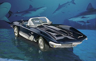 1965 CORVETTE MAKO SHARK DIE-CAST 1:24 SCALE MODEL BY THE FRANKLIN MINT