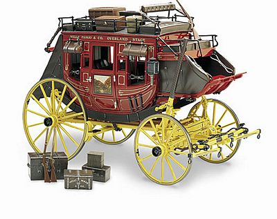 Wells Fargo Overland Stagecoach Die-Cast 1:16 Scale Model By The Franklin Mint