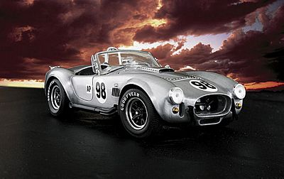 1966 Shelby Cobra 427 S/C In Aluminum Die-Cast 1:24 Scale Model By The Franklin Mint