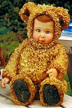 Anne Geddes Curly Fur Teddy Bear Figurine
