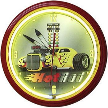 Hot Rod Neon Wall Clock