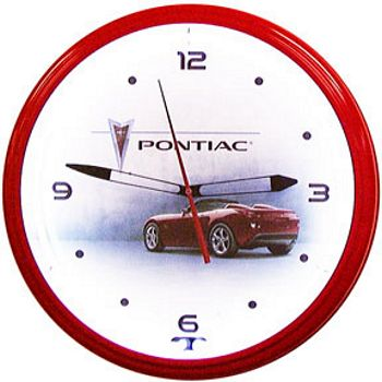 Pontiac Solstice Red Neon Wall Clock