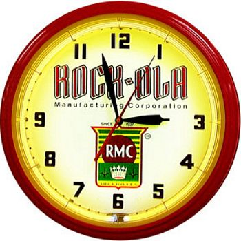 Rock Ola Neon Wall Clock