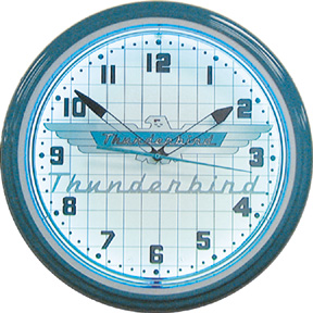 Thunderbird Neon Wall Clock