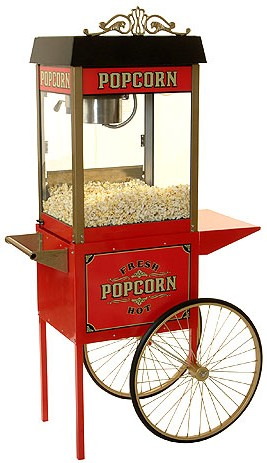 Street Vendor 6oz. Popcorn Popper With Antique Style Cart By Benchmark USA