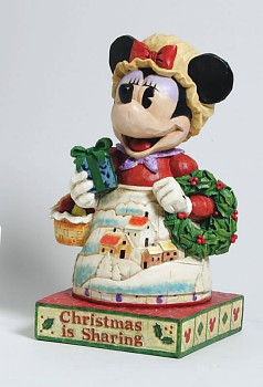 Disney Traditions Minnie Mouse With Wreath Figurine By Jim Shore
