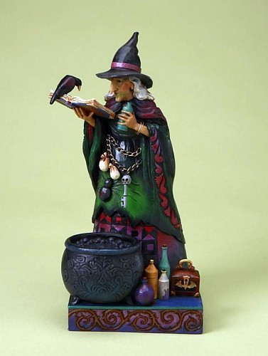 Jim Shore Heartwood Creek Witch With Potions Figurine