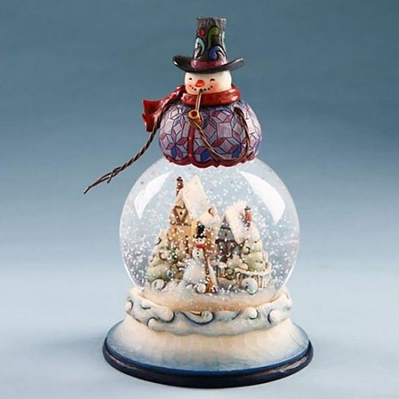 Jim Shore Heartwood Creek Snowman With Winter Scene Waterglobe
