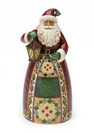 Jim Shore Heartwood Creek Classic Santa Claus With Lantern Figurine