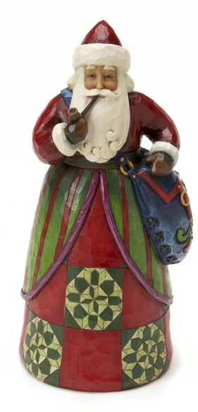 Jim Shore Heartwood Creek Classic Santa Claus With Bag Figurine