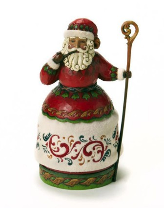 Jim Shore Heartwood Creek Santa Claus With Pipe And Cane Figurine