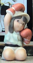 Kim Anderson Girl With Boxing Gloves Mini Figurine