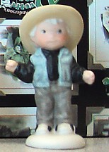 Kim Anderson Child Dressed As Cowboy Mini Figurine