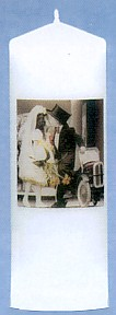 Kim Anderson Wedding Couple With Car White Unity Candle