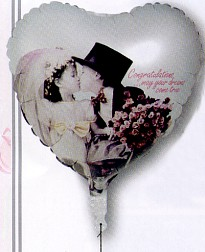 Kim Anderson Wedding Couple Kissing Mylar Balloon