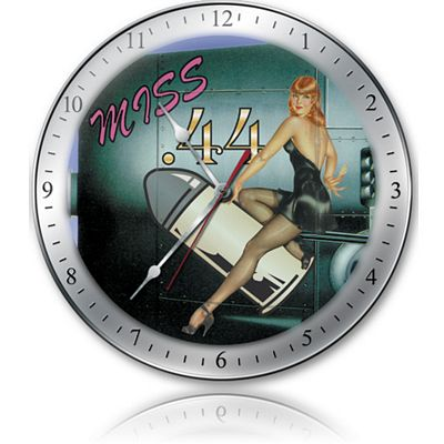 Miss .44 Aircraft Metal Wall Clock