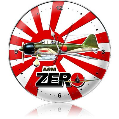 A6M Zero Aircraft Metal Wall Clock