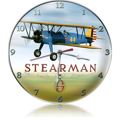 Stearman Aircraft Metal Wall Clock