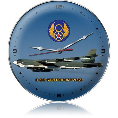 B-52 Stratofortress Aircraft Metal Wall Clock