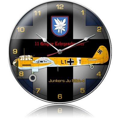 Junkers JU 88A-4 Aircraft Metal Wall Clock