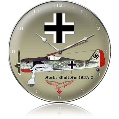 Focke-Wulf FW 190A-3 Aircraft Metal Wall Clock