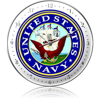 United States Navy Metal Wall Clock