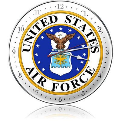 United States Air Force Metal Wall Clock