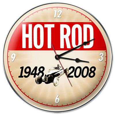 Hot Rod Magazine 60th Anniversary Metal Wall Clock