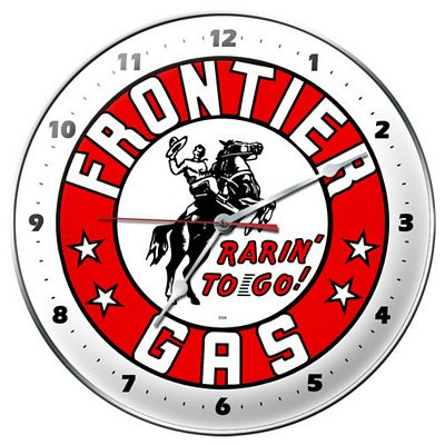 Frontier Gas Metal Wall Clock