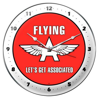 Flying A Metal Wall Clock