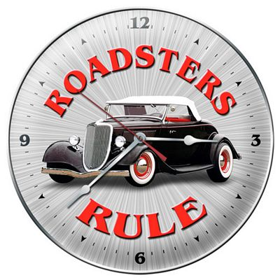 Roadsters Rule Metal Wall Clock