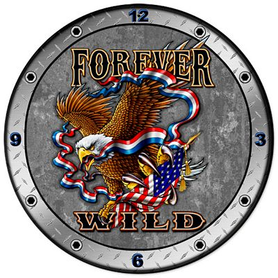 Forever Wild Metal Wall Clock