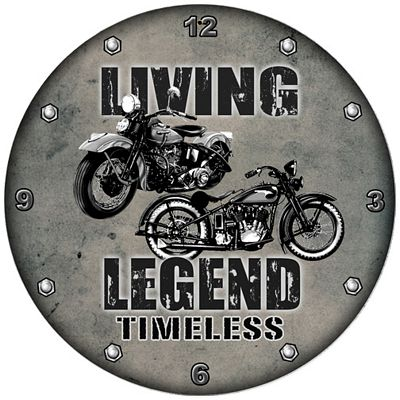 Living Legend Metal Wall Clock