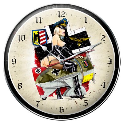 Frau Flyer Metal Wall Clock