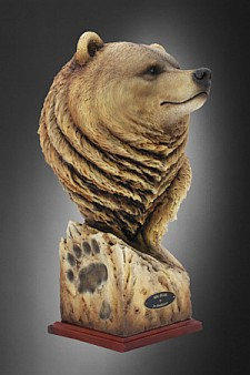 Big Bear Limited Edition Mill Creek Studios Sculpture By Joe Slockbower