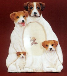 Jack Russell Terrier 3-1/2 X 5 Three Dimensional Photo Frame