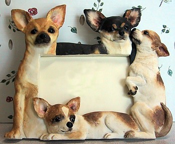 Chihuahua 4 X 6 Three Dimensional Photo Frame