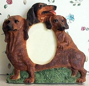 Dachshund 3-1/2 X 5 Three Dimensional Photo Frame