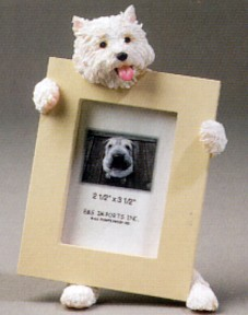 West Highland Terrier 2-1/2 X 3-1/2 Three Dimensional Photo Frame