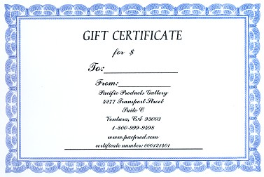 Pacific Products Gallery Gift Certificate