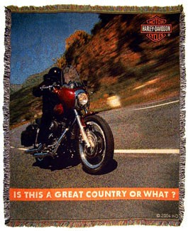Harley-Davidson Great Country Blanket/Throw