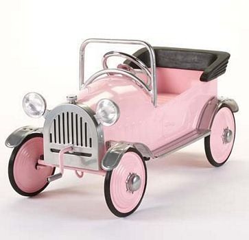 Retro Pretty Pink Princess Roadster Pedal Car By Airflow Collectibles