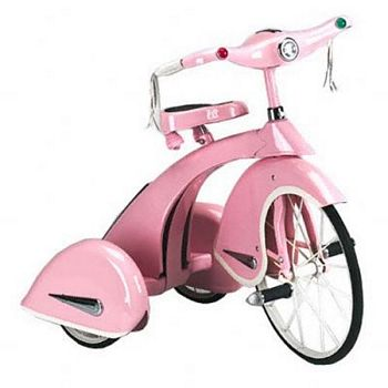 Retro Pink Princess Tricycle By Airflow Collectibles
