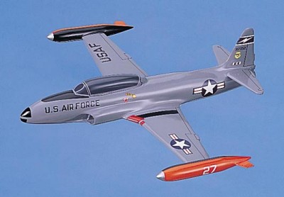 T-33 Shooting Star USAF Gray Scale Model Aircraft