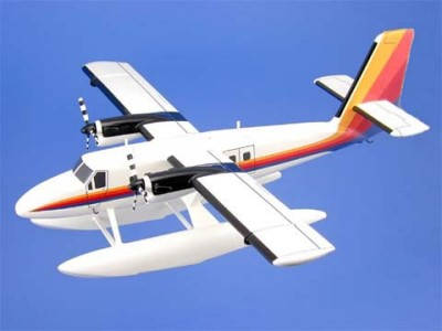 De Havilland DHC-6 Twin Otter With Floats Scale Model Aircraft