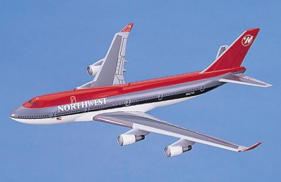 Boeing 747-400 Northwest Airlines Scale Model Aircraft