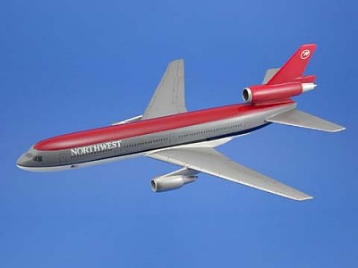 Northwest Airlines DC-10 Scale Model Aircraft