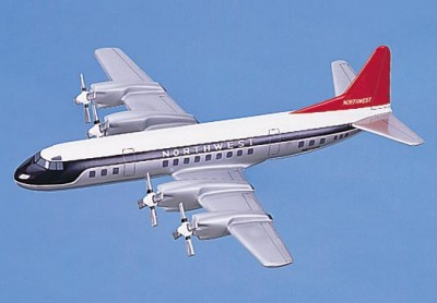Northwest Airlines L-188 Scale Model Aircraft