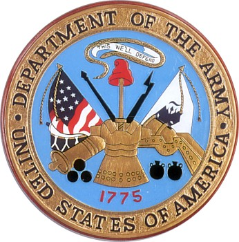 Department Of The Army Wooden Hand Carved Seal Plaque